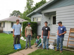 Students at the June RSVP Weatherization Project